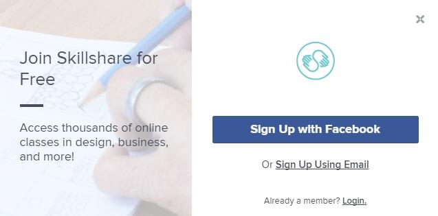 Skillshare регистрация
