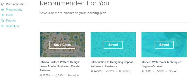 Skillshare выбор первых курсов для изучения
