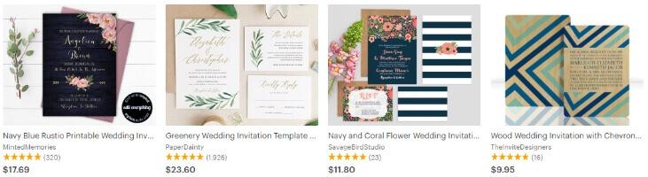 Свадебные приглашения - продавать на Etsy