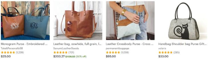 Продавать сумки на Этси