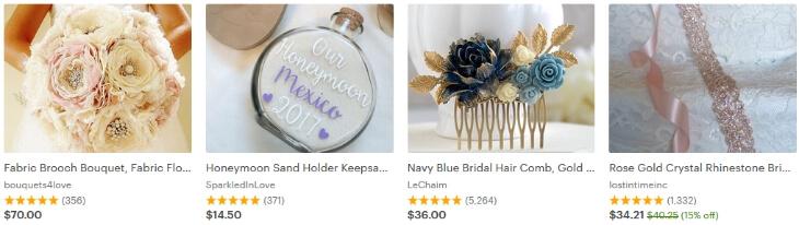 Свадебные товары на Etsy