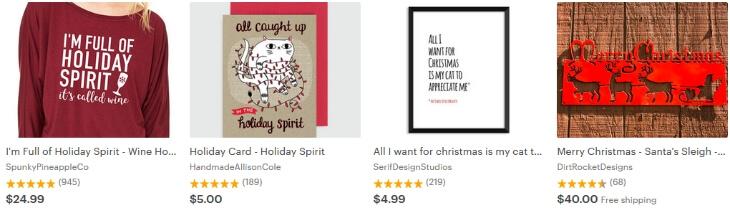 Holiday spirits _ Etsy