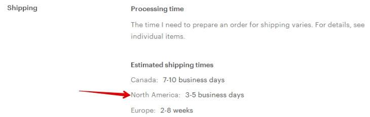 Сроки доставки по США у американских магазинов