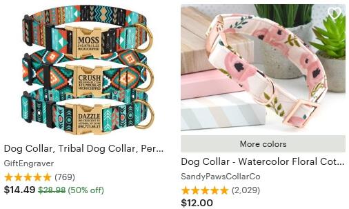 Dog collar Etsy