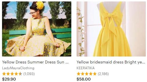 Yellow dress _ Etsy