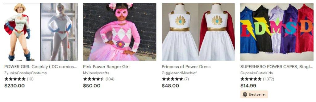 Женские костюмы супер-героев Etsy