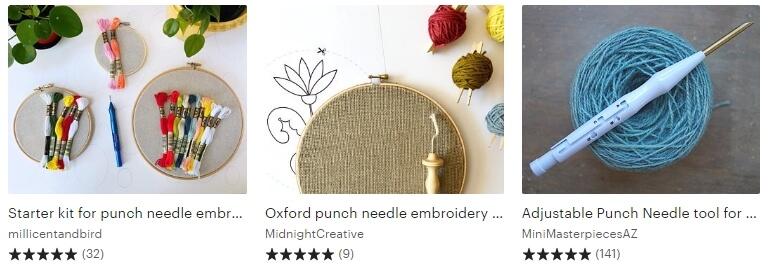 Punch needle kit Etsy