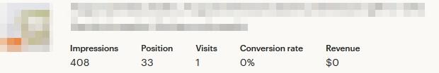 Search analytics - статистика листинга