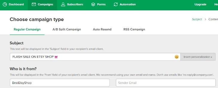 MailerLite - рассылка email писем