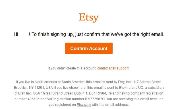 Как подтвердить аккаунт на Etsy