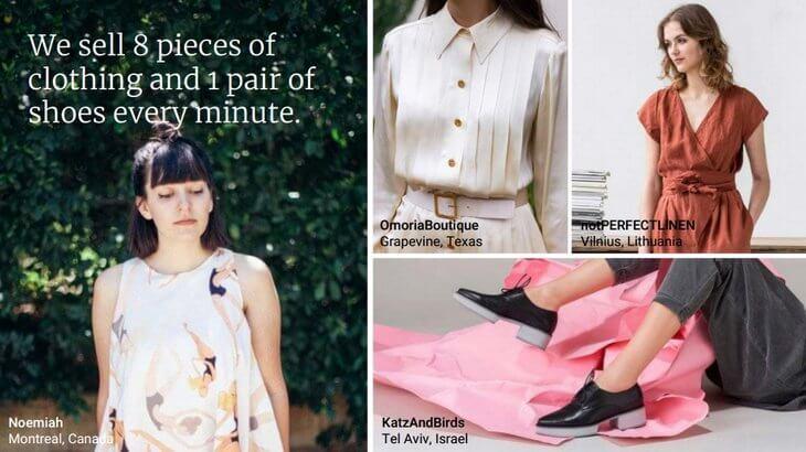 На Etsy каждую минуту продаётся 8 товаров одежды и 1 пара обуви