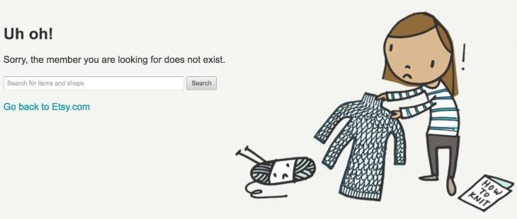Магазин на Etsy закрыт