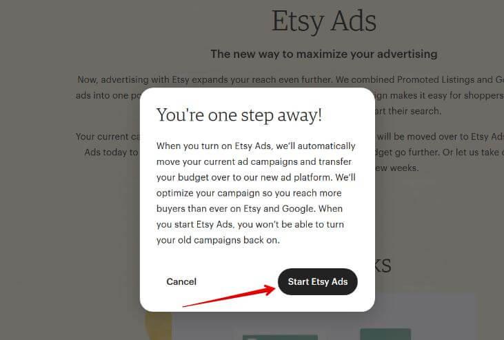 Начать рекламироваться на Etsy Ads