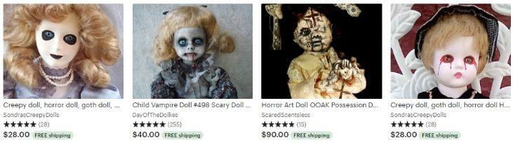 Жуткие куклы - Creepy dolls - Etsy
