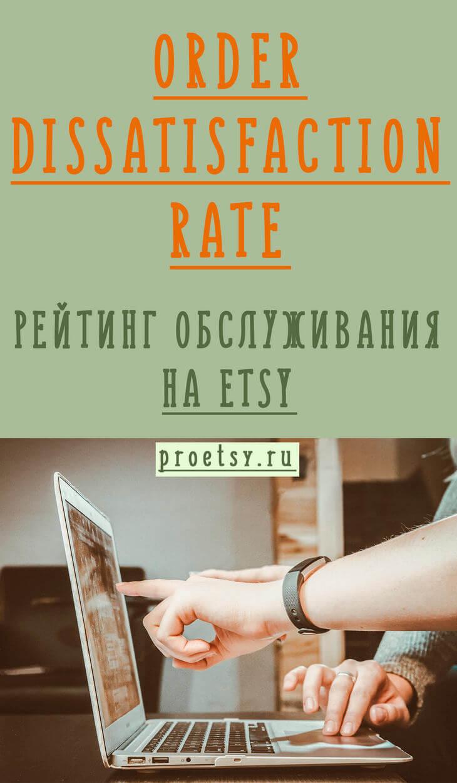 Order Dissatisfaction Rate на Etsy - рейтинг качества обслуживания магазина