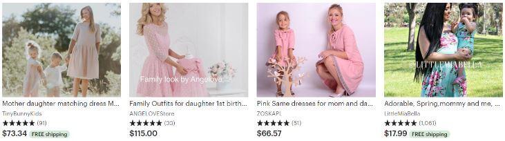 Подработка в декрете - шьём платья для мамы и дочки