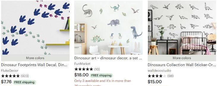 Dinosaur decal _ Etsy
