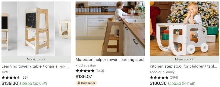 Montessori towers _ Etsy