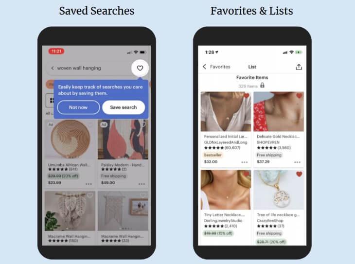 Сохранение поисков в мобильном приложении