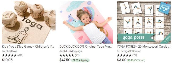Yoga for kids _ Etsy