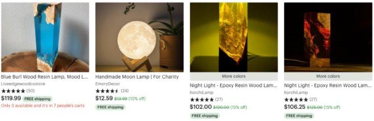 Персонализированные результаты по запросу lamp